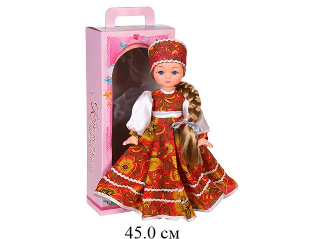 Кукла Василина хохлома в кор 45 см Ивановская фабрика игрушек