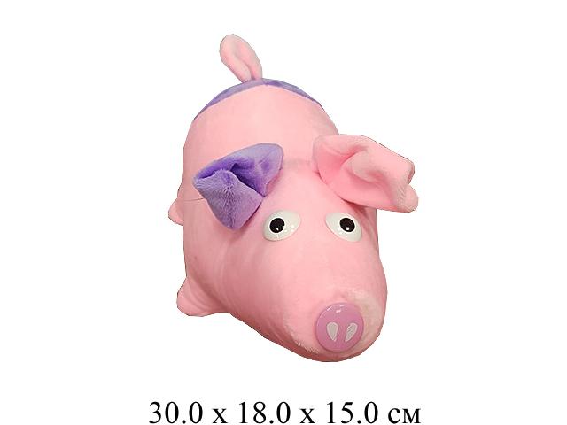 Игрушка мягконабивная свинка вислоухая  (30 см) Ягуар