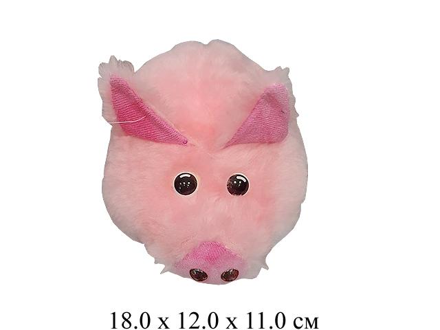 Игрушка мягконабивная свинка лежачая мини Ягуар