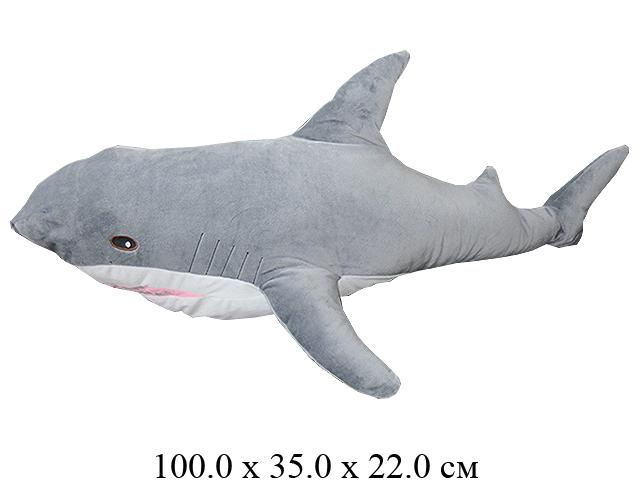Игрушка мягконабивная Акула  100 см. Ягуар