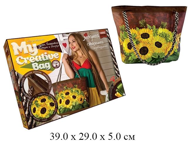 "**Н/для творчества - сумка, вышивка лентами и бисером Подсолнухи ""My creative bag"" MCB-01-03 ""Данко"""