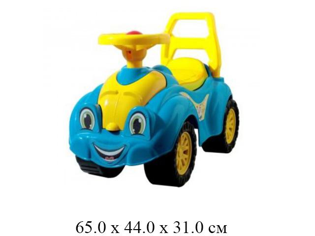 "Автомобиль - каталка  голубо - желтый в пак. ""Технок"""