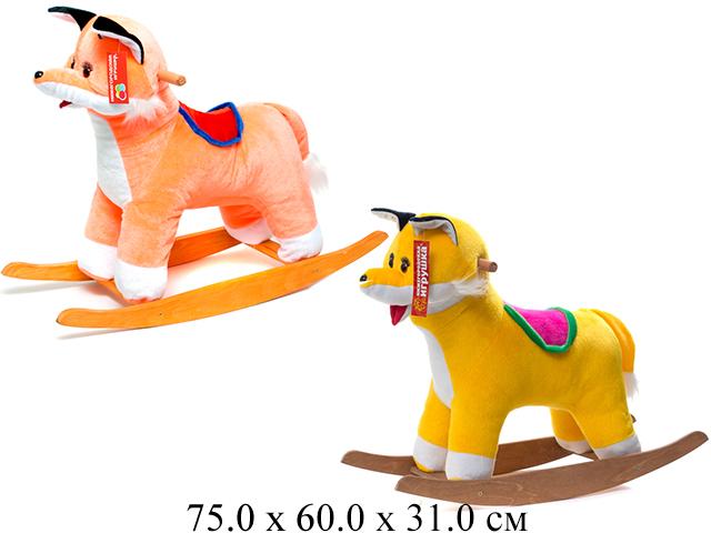 Качалка- Лиса оранжевый См-440-4 Нижегородская игрушка