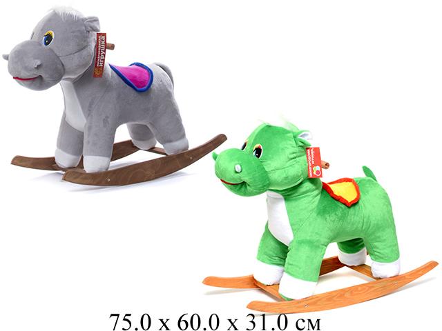 Качалка-Бегемот-качалка зеленый См-440-4 Нижегородская игрушка