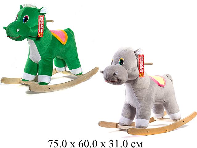 Качалка- Бегемот ЭКО Зеленый См-750-4 Нижегородская игрушка