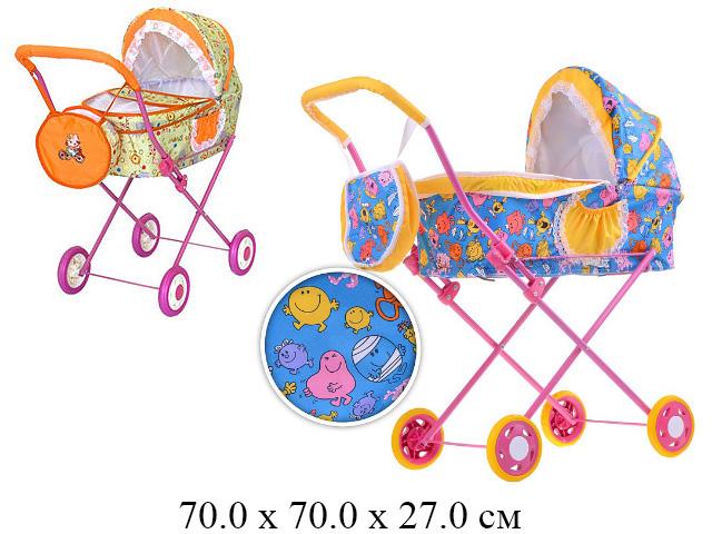 Коляска для куклы лежачая с сумочкой (№4) в кор. (ИП Ясюкевич)