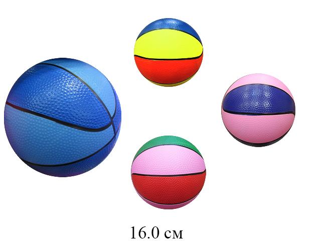 Мяч баскетбольный  16 см (5 цветов)