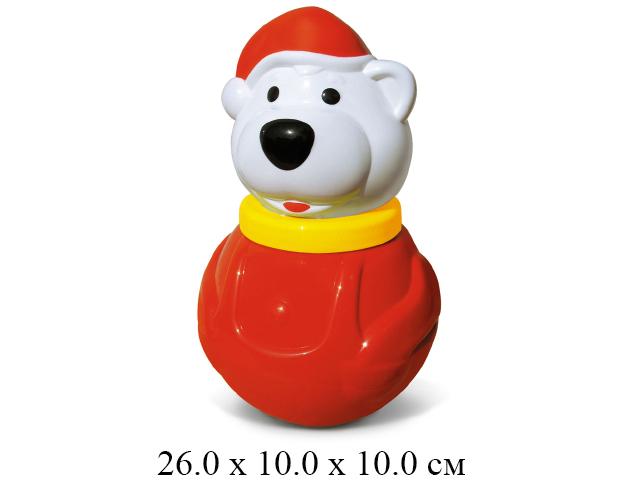 """Неваляшка  малая """"Белый медведь-2"""" в пак.  """"Стеллар"""""""