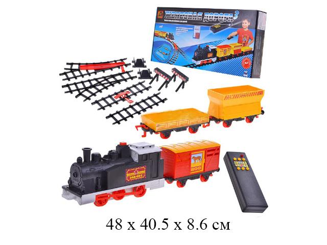 Игра настольная - железная дорога на ИКУ (паровоз на бат., 5 вагонов) в кор.