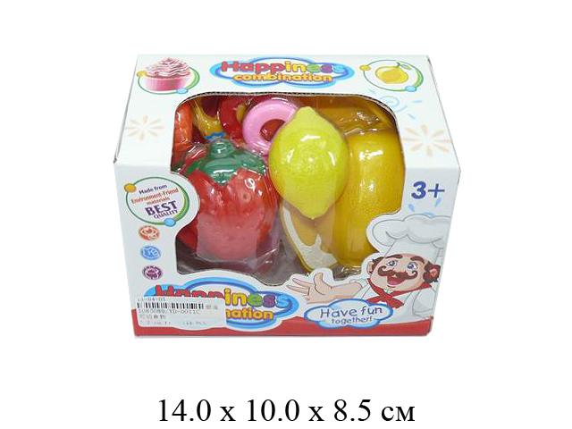 **Н/фрукты + овощи в разрезе + посуда (5 предм.) в кор. YD-0011C