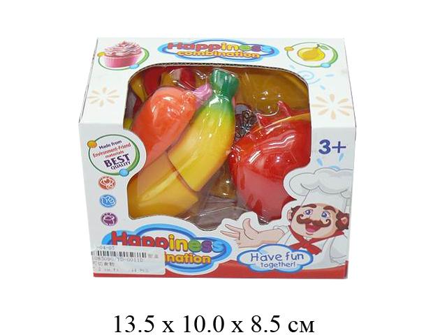 **Н/фрукты + овощи в разрезе + посуда (5 предм.) в кор. YD-0011D