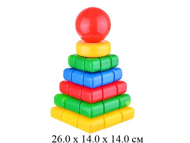 """Пирамидка """"Ладья""""  (13 дет.) 27 см в сетке  """"Класата"""""""