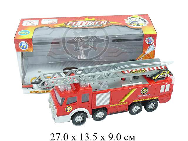 Машина пожарн.на бат. (свет, сирена, водяная пушка) в кор. SY732