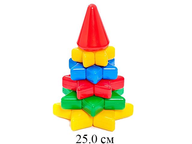 """Пирамидка """"Ёлочка"""" 25 см в сетке  """"Класата"""""""