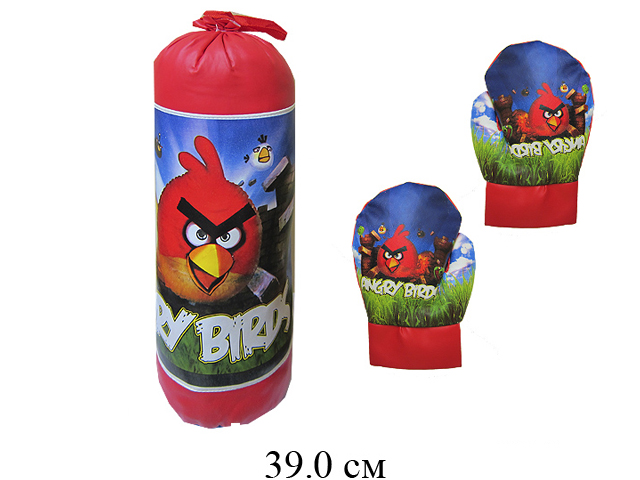 """Груша боксерская """"112"""" + перчатки в сетке 1696-2"""
