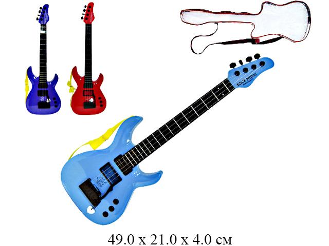 Гитара (2 цвета) в чехле 5599