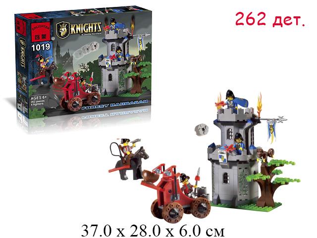 Конструктор -  телега + замок Knights в кор.Brick (Shifty)262 дет. 1019