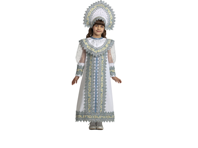 1201 Карнав.костюм Снегурочка Сударыня р-р 34