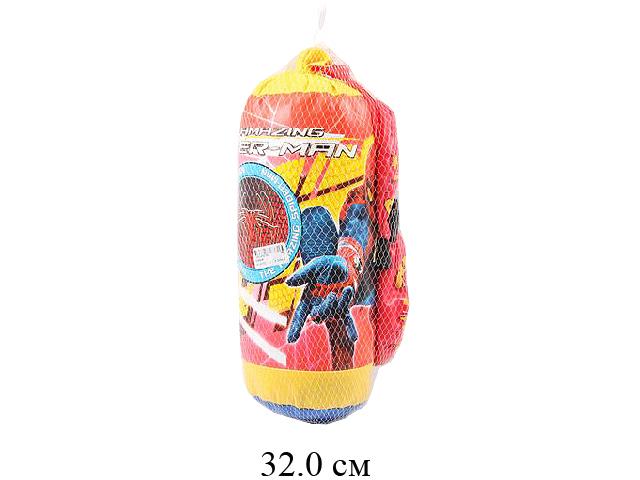 Груша боксерская + перчатки  в сетке 206B38
