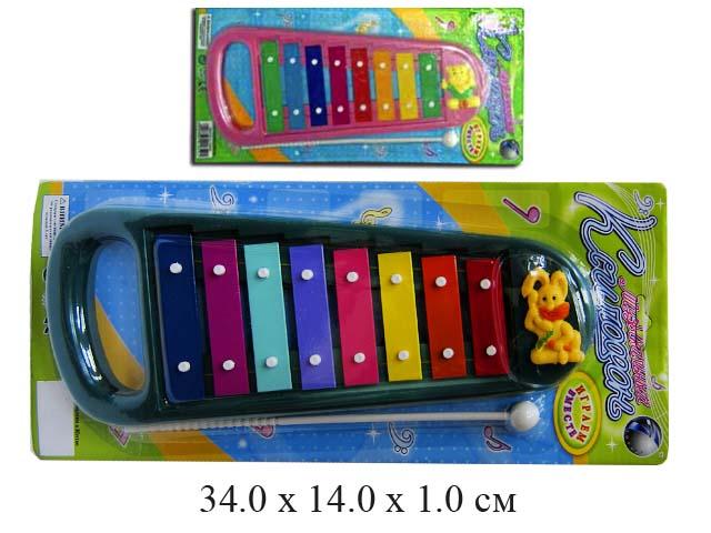 *Ксилофон 9906 (2 цвета)  на карт. Тongde