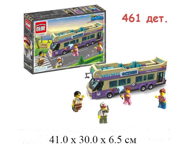 Конструктор - автобус (  дет.) в кор. Сity Brick (Shifty) 1123