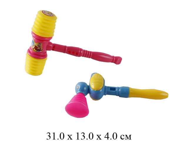 Набор 2 шт. молоток - пищалка (2 цвета) в пак. 2029