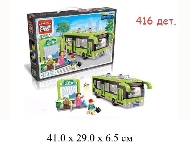 Конструктор - автобус  (420  дет.) в кор. Сity Brick (Shifty)1121
