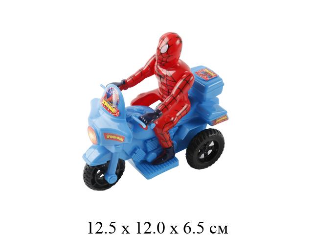 """Мотоцикл с супергероем """"138"""" своб. кат., в пак. 998-14"""