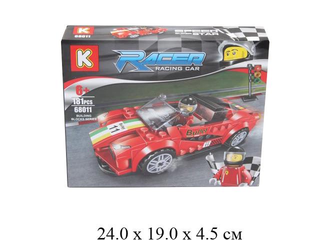 Конструктор - гоночная машина с гонщиком Racer (181 дет.) в кор. 68011