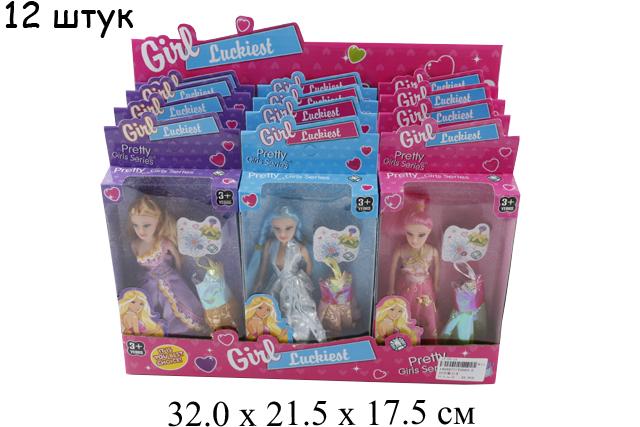 Кукла + платье в кор. в диспл. 3 вида T2065-2