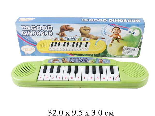 Орган на бат. (музыка) рис. динозавры в кор. 3722