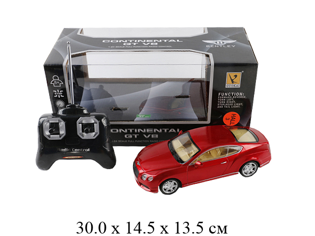 """Р/у машина Bentley Continental GT V8 1:24 (свет. фары) (3 цвета) в кор. 866-2427"