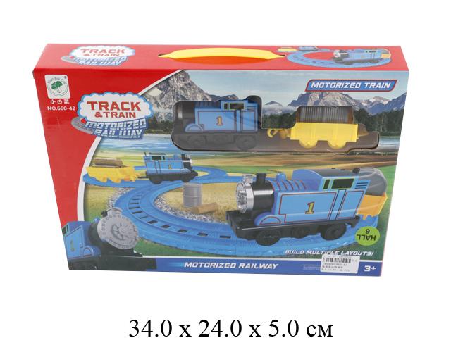 Ж/д (паровоз на бат., вагон) в кор. 660-42
