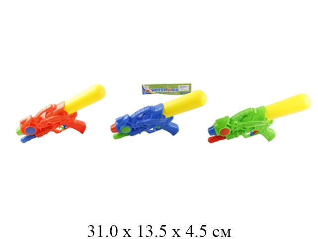 Пистолет водный (3 цвета) в пак. 103