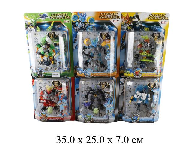 Конструктор - робот Cosmic Warrior (6 видов) на карт. F1506-6