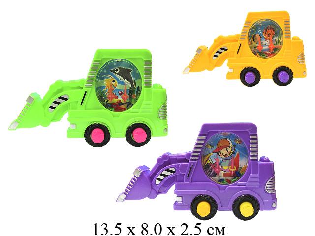 Водная игра с кольцами в виде трактора (3 цвета) в пак. 269Y