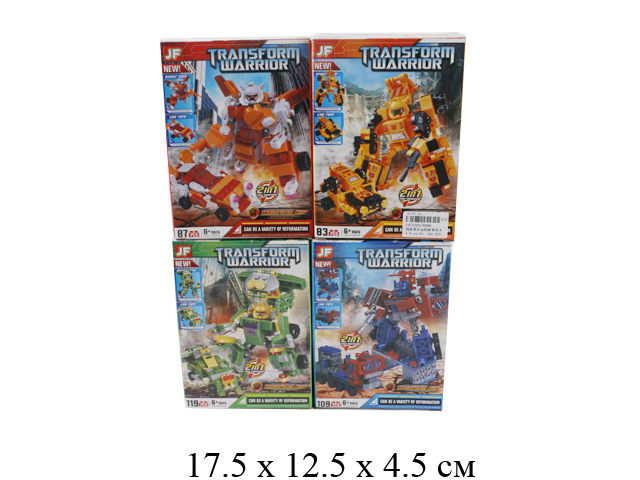 Конструктор - робот - машина (109 дет.) (4 вида) в кор. 9988