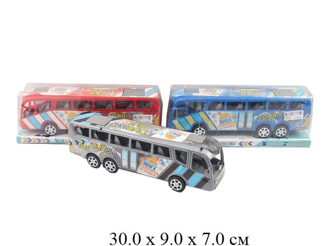 Автобус фрикц. Tourism Bus (3 цвета) в блист. M3330-5