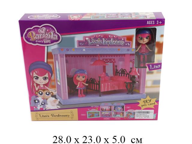 Мебель для куклы - спальня + куколка Lisa в кор. 60213