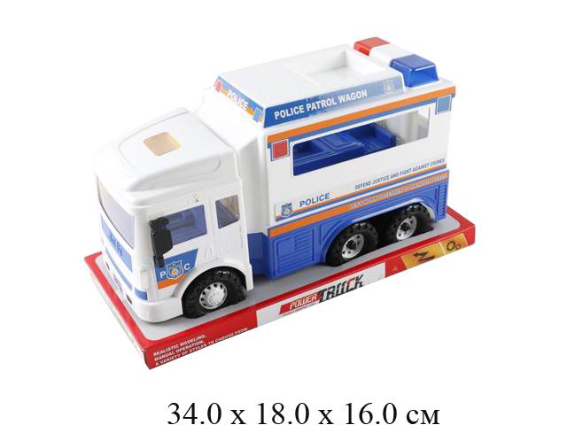 Машина - фургон полиц., фрикц. в блист. RJ6681-2