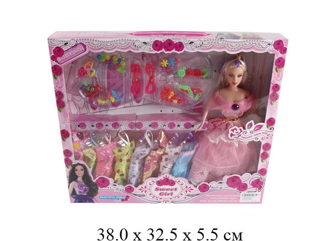 Кукла гнущ. + платья + аксессуары в кор. 9272C