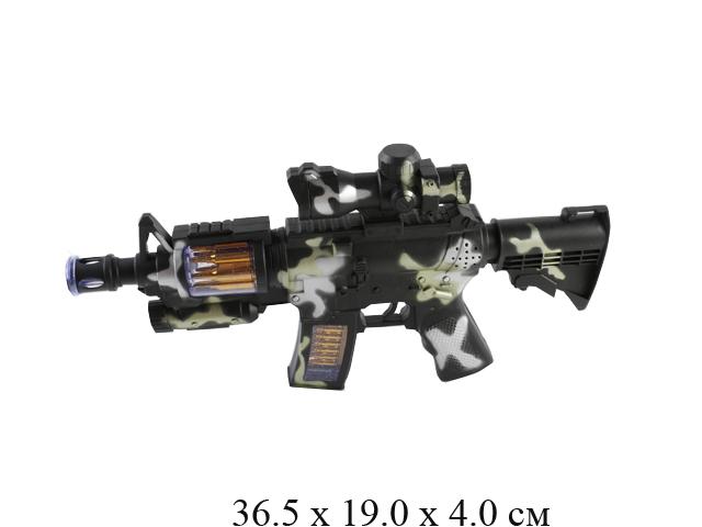 Автомат на бат. (свет, звук, двиг. ствол и магазин) в пак. 830-3