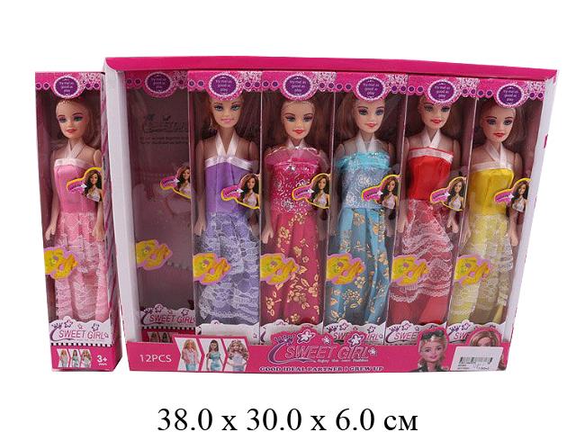 Кукла н/гнущ.в диспл.6 цв.9208A