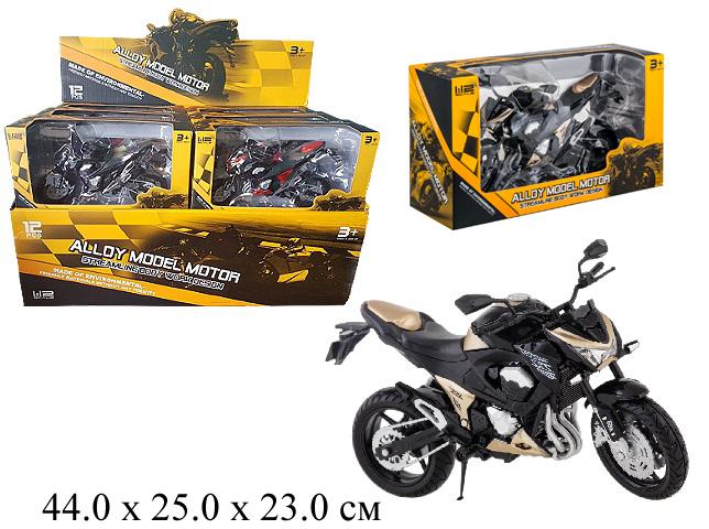 """Мотоцикл в кор. в диспл. """"Ahoy Model Motor"""" 3 цв. HX0048  HX798"""