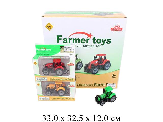 Трактор фрикц. в кор. в диспл. 3 цвета FC17-17