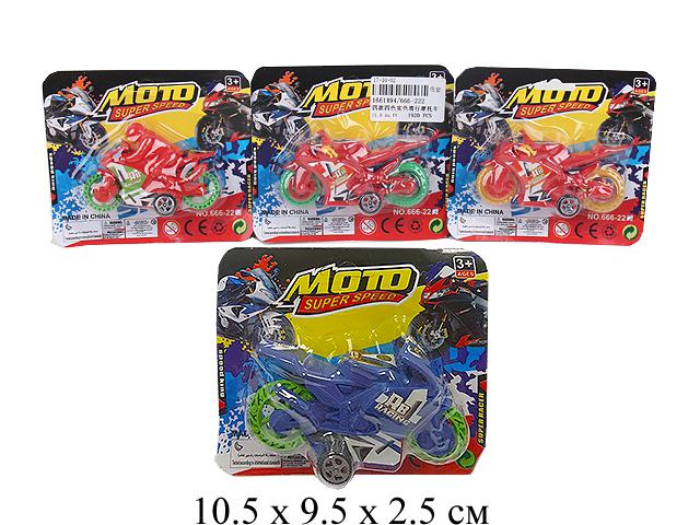 Мотоцикл на карт. 6 цв. 666-222