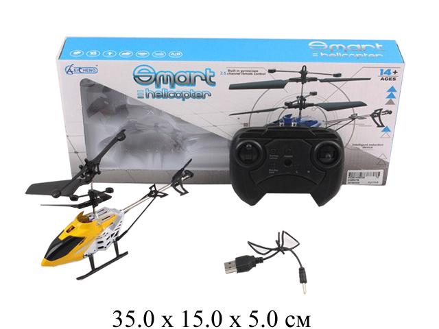 Р/у вертолет металл. с гироскопом (з/у USB) в кор.ZX8597B