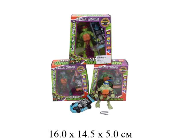 Черепаха + машинка  с аксесс.в кор. 4 вида YM220