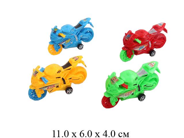 Мотоцикл инерц. в пак. 4 цв.729-37