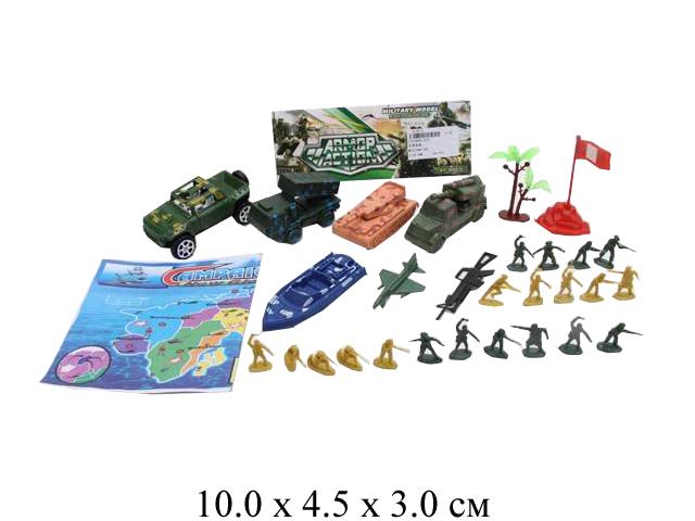 Комбат с картой,5 шт. техники,солдатики в пак. 204